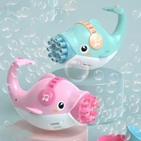 2 colors electric bubble blower bubble maker toy for kid adults automatic dolphin bubble machine summer bubble blowing toys