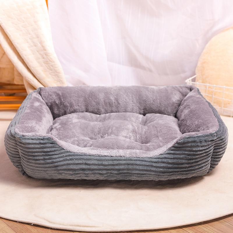 Cama rectangular para perro, saco de dormir, perrera, sofá para cachorro, casa...