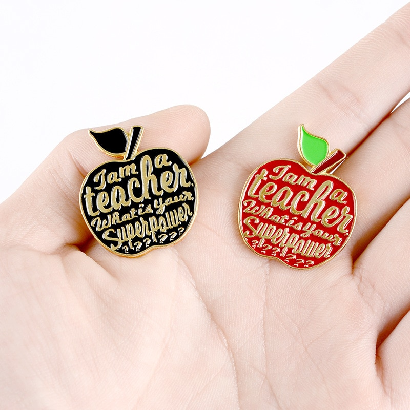 XEDZ Colorful Apple Badge Delicious Cartoon Fruit Holiday Surprise Gift to Friends Exquisite Brooch Shirt Punk Lapel Pin Jewelry  - buy with discount