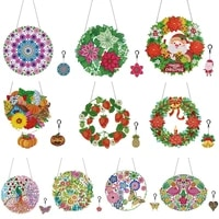 diy flowers diamond wreath for window decoration with led light diamond wreath for door hanging decorative wreaths with keychain