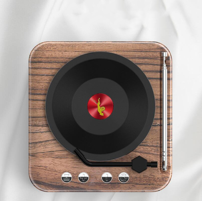 H3 Multifunctional Retro HIFI Atomic Phonograph Bluetooth Audio Radio Card Wood Grain Wireless Portable Fm Speaker enlarge