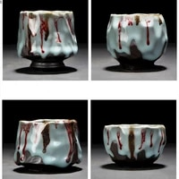 creative ceramic tea cup travel cup change kiln ceramic home teacup drinkware coffee cups