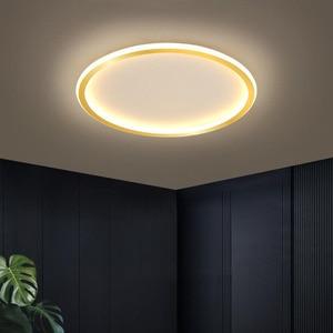 Modern minimalist ultra-thin round LED ceiling lamp 20W bedroom living room dining hall corridor study lamp