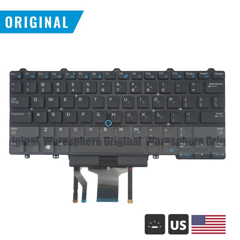 Клавиатура с подсветкой для Dell Latitude 7450 7480 5488 7490 5480 5490 E7480 E7490 Black US