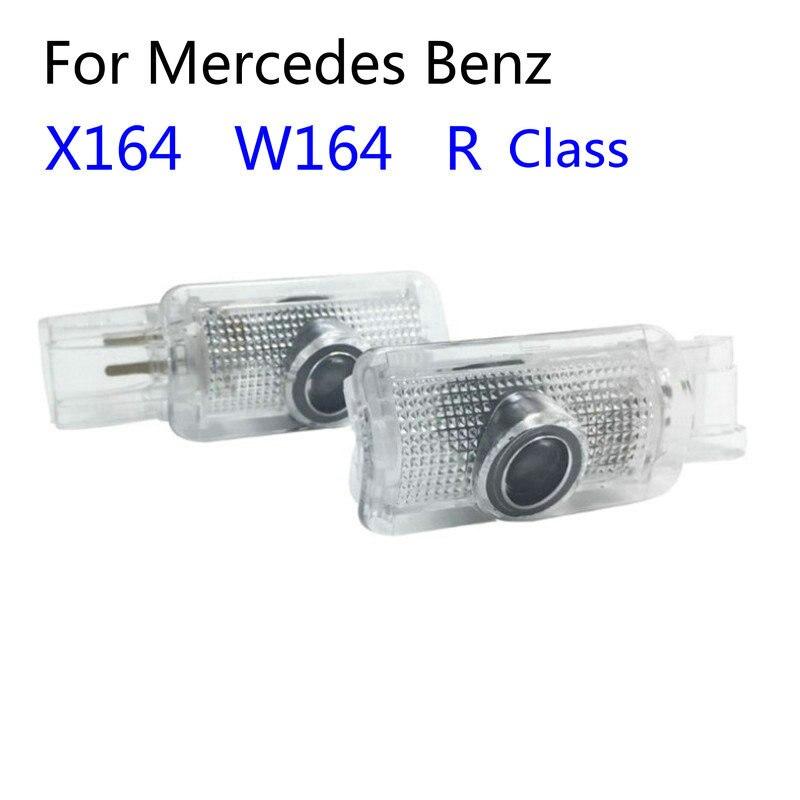 2 uds coche Led Luz de bienvenida para puerta Logotipo de proyección para Mercedes Benz W251 Clase R W164 ML X164 GL R400 R320 R350L ML300 ML450 ML500