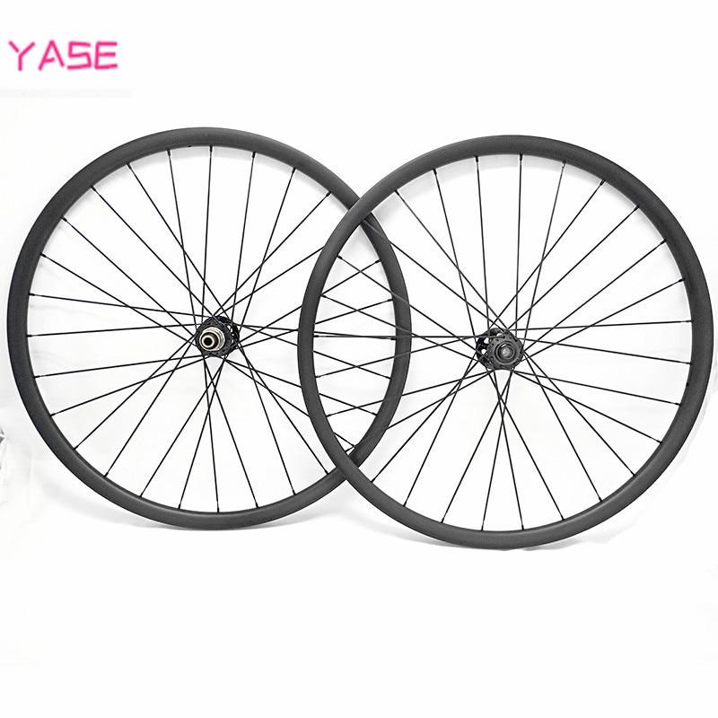 YASE 29er mtb disc carbon wheels 30.5x19.5mm asymmetry tubeless bicycle carbon wheel FASTace DA206 100x15 142x12 carbon wheelset