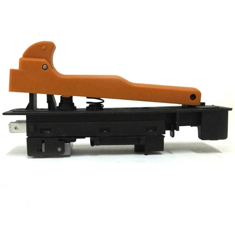 1 unidad AC 250V 12A 5E4 naranja/Negro botón de bloqueo en el interruptor del disparador para Makita 180 G18SE2 ángulo DPST NO
