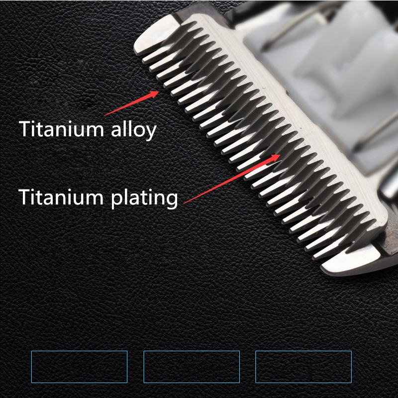Professional Hair Clipper Rechargeable Trimmer Lithium Battery Titanium alloy blade cutter adjustable comb Fine-tuning 100-240V enlarge