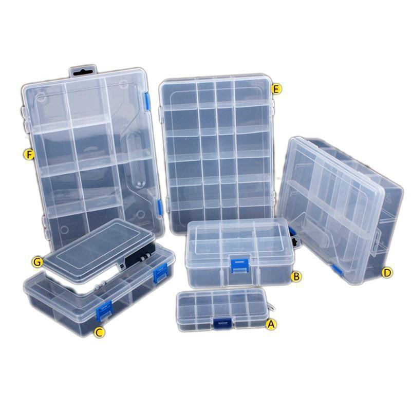 Household Vehicle-mounted Storage Box Plastic Container for Tool Electronic Components Portable Transparent Plastic Storage Box