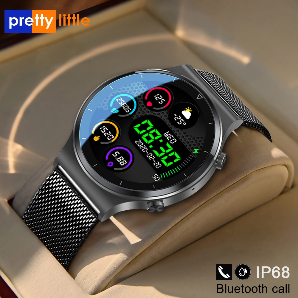 New Bluetooth Call Smart Watch Men S-600 IP68 Waterproof Full Touch Screen Sports Fitness Smartwatch Custom Face For Android IOS