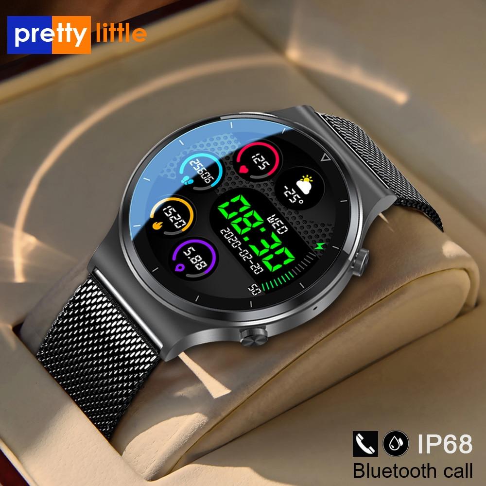 جديد بلوتوث دعوة ساعة ذكية الرجال S-600 IP68 مقاوم للماء شاشة تعمل باللمس كامل الرياضة اللياقة البدنية Smartwatch وجه مخصص لنظام أندرويد IOS