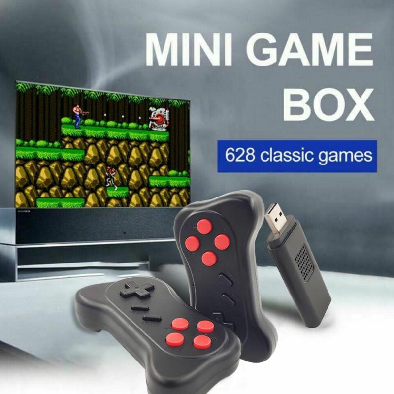 2021 Newest Video Game Console 2.4G Wireless Game Controller Built-in 620 Games Retro TV Game Stick Support Two-player Games