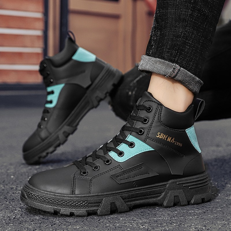 Brand men's high-top sneakers lightweight running shoes comfortable casual shoes breathable vulcaniz