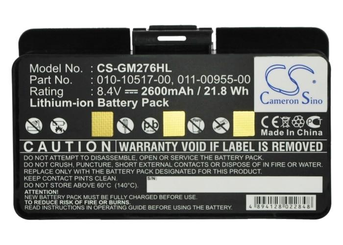 Cameron Sino 2600mAh Batterij Voor Garmin GPSMAP 276, GPSMAP 296, GPSMAP 276c, 010-10517-00 010-10517-01 011-00955-00