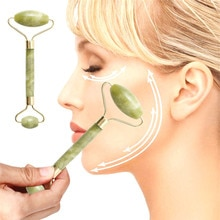 Facial Massage Jade Roller Double Heads Jade Stone Face Lift Hands Body Skin Relaxation Slimming Bea