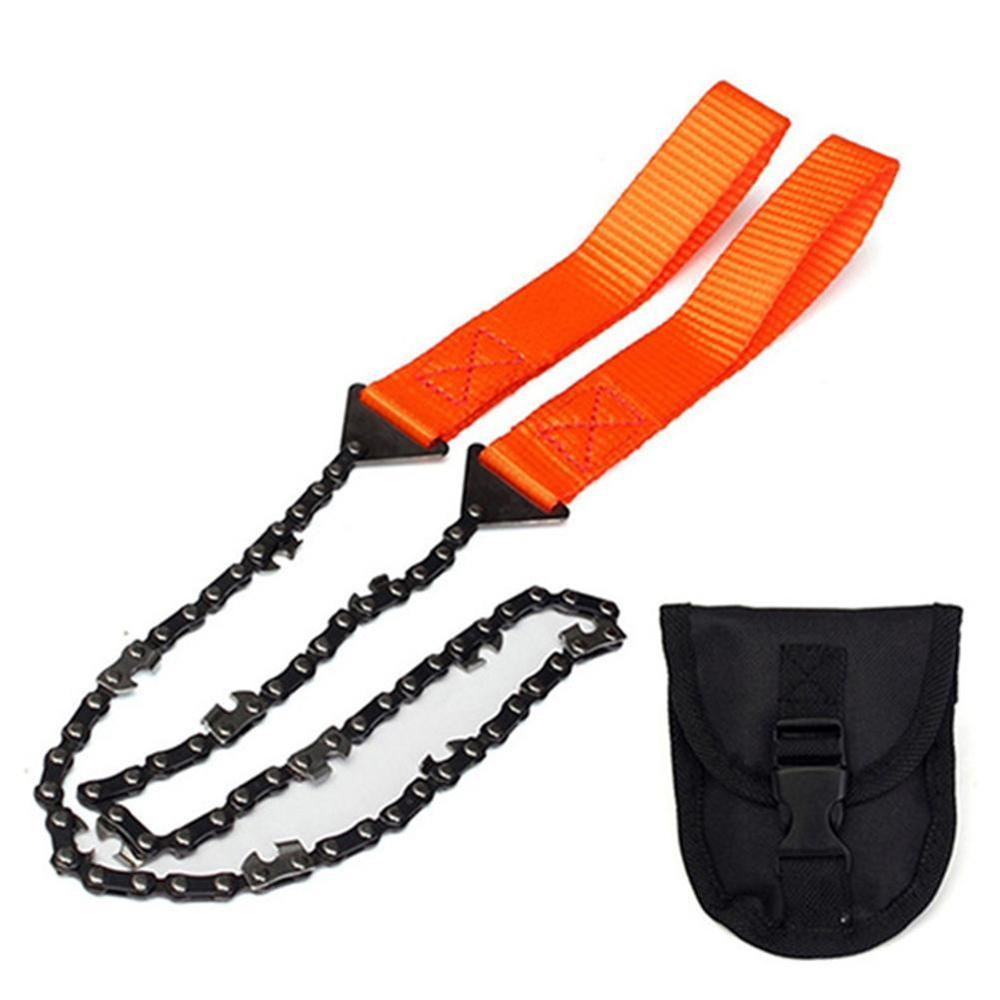 Portable Survival Chain Saw Chainsaws Emergency Camping Hiking Tool Pocket Hand Tool Pouch Outdoor Pocket Chain Saw