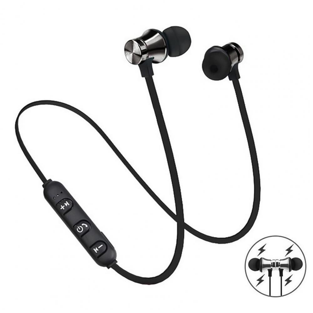 jbm mj600 stereo in ear earphone black iron grey Magnetic Wireless Earphone Bluetooth Earphone Stereo Sports Waterproof Earbuds Wireless in-ear Headset with Mic
