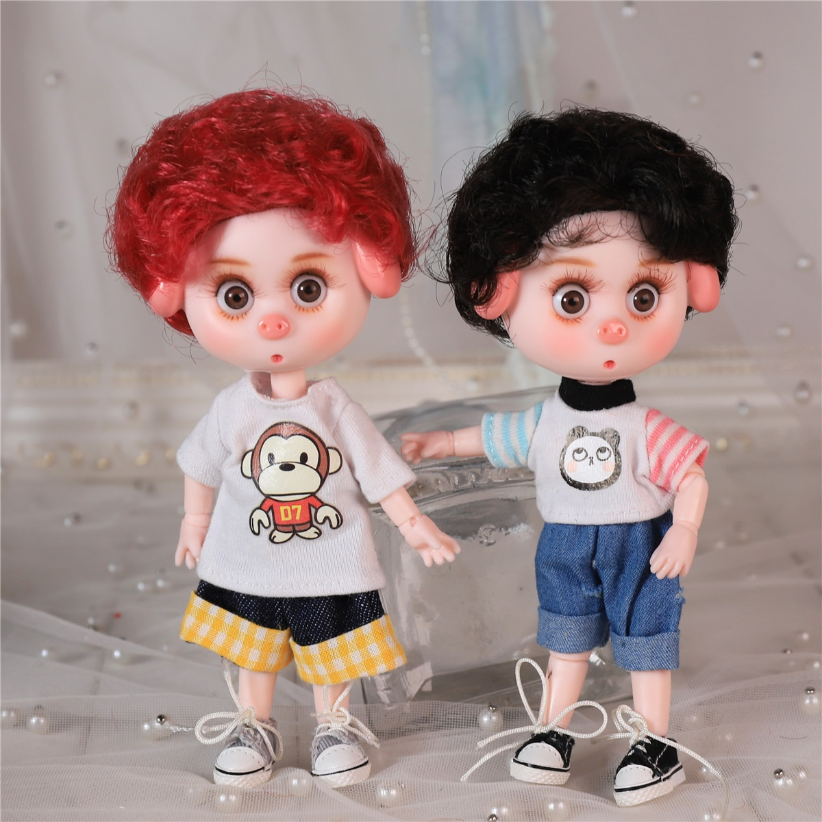 DBS Dream Fairy 1/12 BJD DODO doll 15cm doll toy ob11 mini doll with clothes shoes