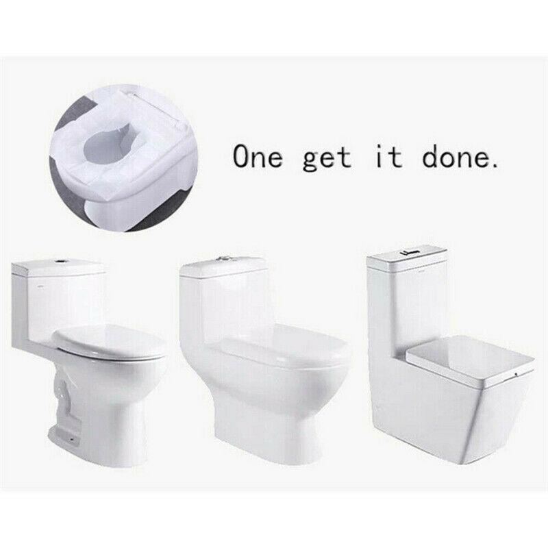 100pcs Toilet Seat Covers Paper 2020 Hot Sale White Portable Travel Flushable Hygienic Disposable Sanitary Toilet Covers Paper