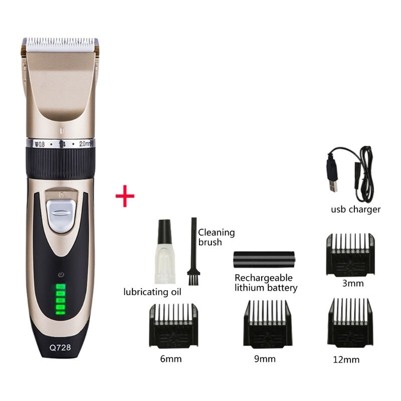 Hair Trimmer Rechargeable Hair Clippers for Men Professional Hair Cutting Kit enlarge