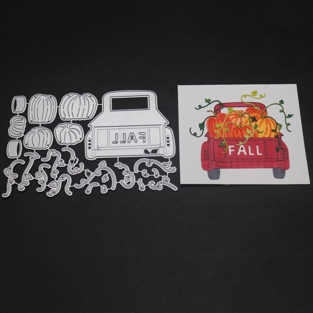 Troqueles de corte de Metal para marco de camión, Troqueladora de letras de otoño para álbum de recortes, sellos y troqueles, novedad de 2019