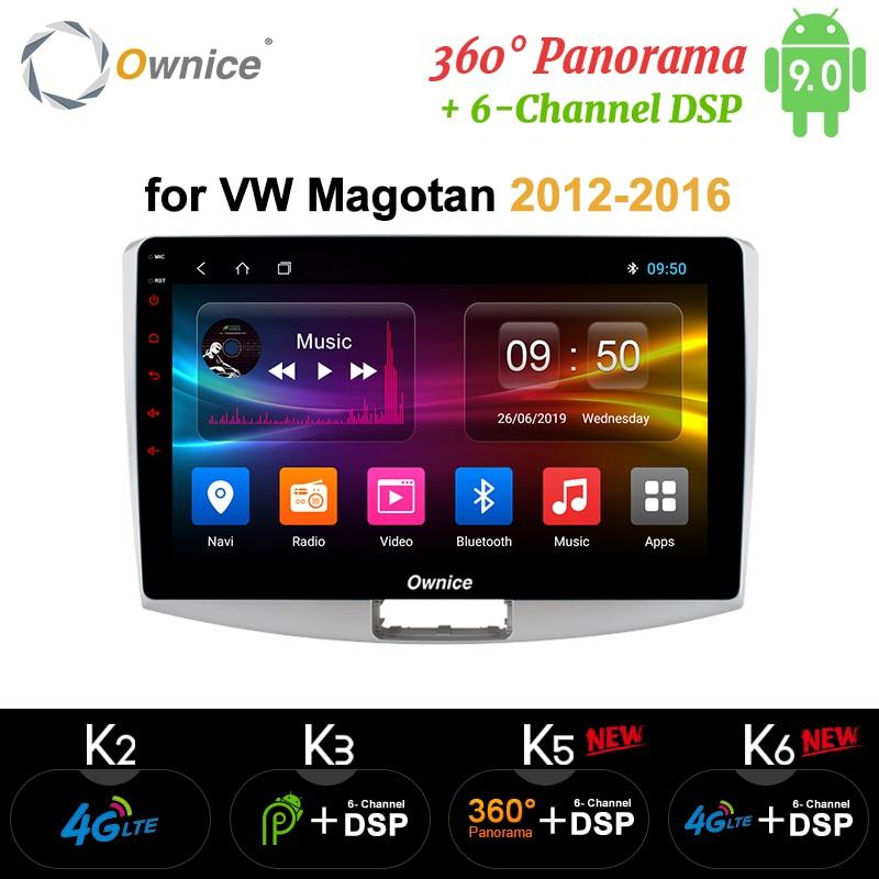 Ownice 8Core Android 9.0 Car Radio player GPS k3 k5 k6 For Volkswagen CC Magotan Passat b7 2012 2013 2014 2015 2016 DSP SPDIF