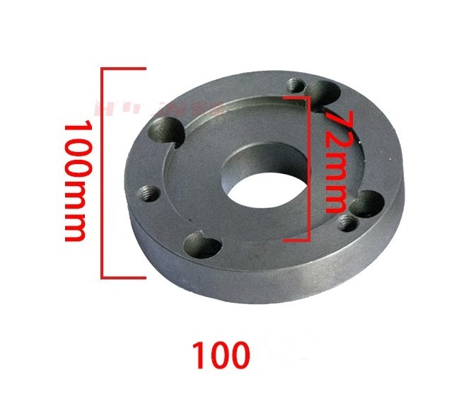 mt3 ms3 taper shank ring flange plate connector adapter for k11 k12 125mm 5 5inch 3jaws 4jaws 125 chuck lathe spindle milling 125MM 100MM back plate, small lathe accessories instrument lathe accessories, chuck cover, connecting plate