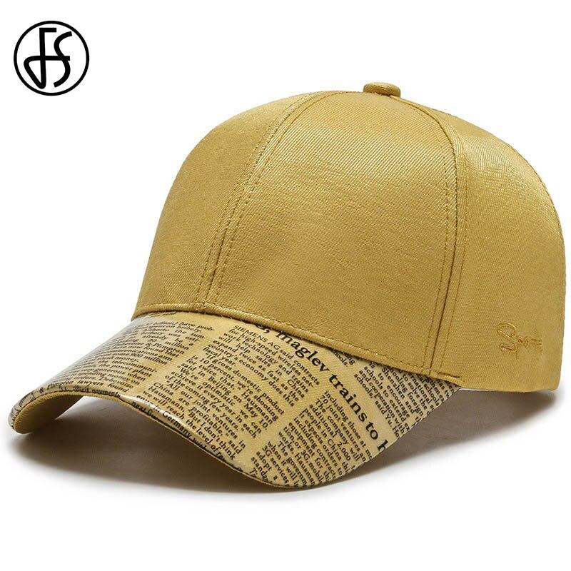 Gorra de verano FS con estampado de letras para hombre, gorra de béisbol amarillo para mujer, ropa de calle, gorra de Hip Hop Bones masculinos