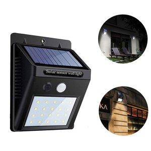 20/30 LED Solar Light Outdoor Solar Wall Lamp Powered Sunlight Waterproof PIR Motion Sensor Street Light Fixture For Garden Deco
