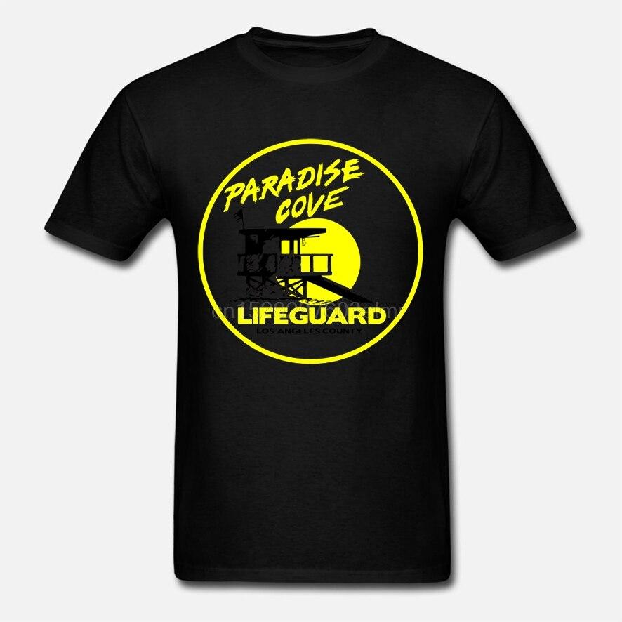 Salvavidas camiseta Baywatch camiseta de socorrista 5x gráfica camiseta algodón masculino linda playa camiseta manga corta