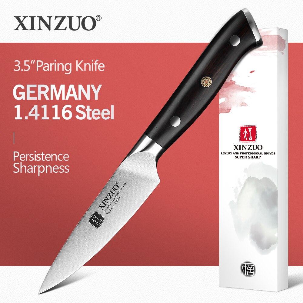 XINZUO-سكين مطبخ ألماني من الفولاذ المقاوم للصدأ 3.5 ، 1.4116 بوصة ، للفواكه والخضروات ، مقبض خشبي ، ملحقات المطبخ