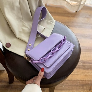 Chain Design PU Leather Crossbody Small Bags For Women 2020 Summer Lady Shoulder Messenger Bag Female Luxury Handbags