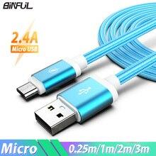 1/2/3 Meter Micro USB Telefon Kabel Android Ladegerät Kabel Kabel Micro USB Lade Draht Kabel für xiaomi Redmi 5 Plus 8 7 6 6A S2