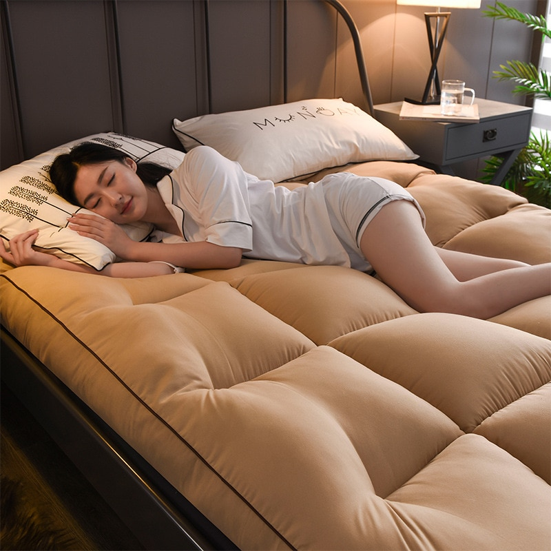 2020 nueva moda colchón de terciopelo grueso de 10cm colchón suave para dormitorio colchón plegable tatami colchón de cama individual almohadilla de algodón