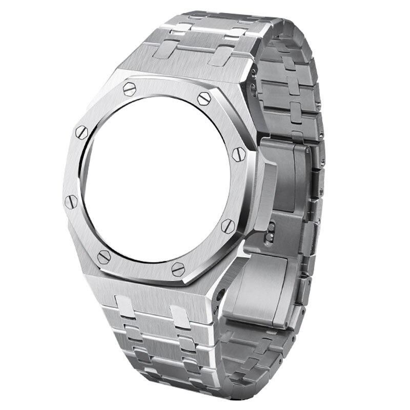 Upgrade 3ND GA2100 Watch Band Strap Bezel Metal Stainless Steel 2020 Frame Bracelet Accessory GA2110 Watchband Ga-2100