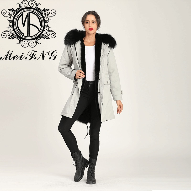 Newest Grey Long Coat Winter Women Trench Coat Online Clothing Stores Hot Sale Design enlarge