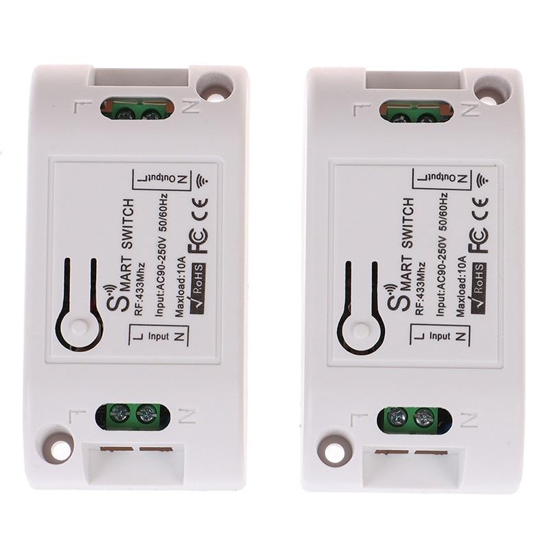 RF 433Mhz AC90-220V receptor inteligente Wifi en casa inalámbrico de relé de...