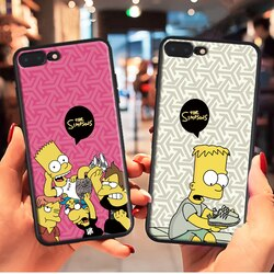 Bonito dos desenhos animados bart caso macio para iphone 11 pro x xs max xr 8 7 6s mais silicone capa de telefone tendência marca fundas fosco coque caso