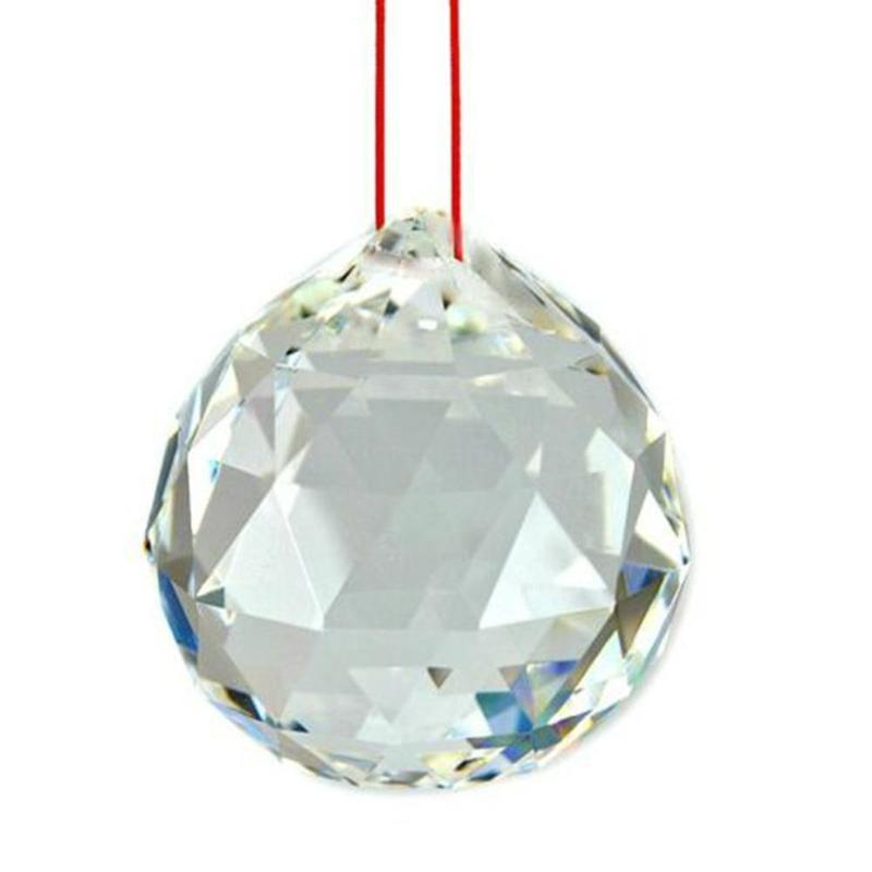 Candelabro de bolas de cristal facetadas, 5 uds., claro, prismas, lámpara de techo, iluminación, colgantes de gota, decoración de la habitación