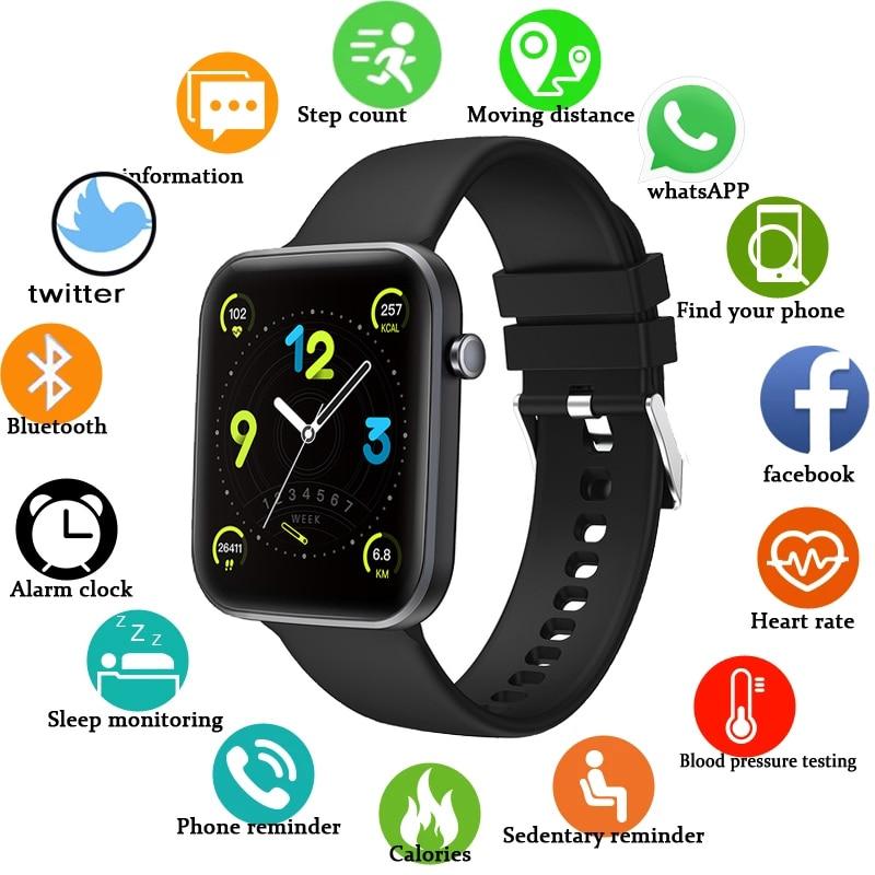 LIGE Smart Watch Men Women Smartwatch Heart Rate Blood Pressure Monitor Fitness Tracker Watch Smart Bracelet for Android and IOS недорого