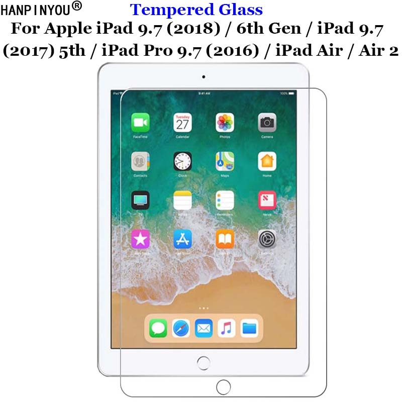 Para Apple iPad 9,7 (2018) (2017) 5th/iPad Pro 9,7 (2016) Air Air2 vidrio templado 9H 2.5D película protectora de pantalla Premium