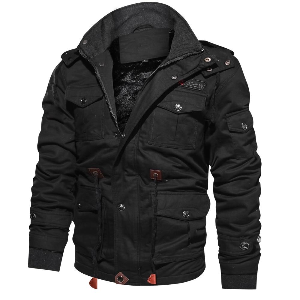 Winter Jackets Parka Men Hooded Fashion Brand Thicken Fleece Warm Windproof Basic Black Outerwear Zi