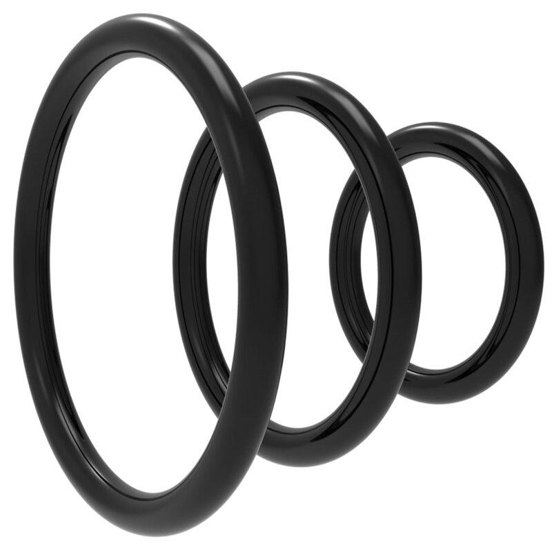 3 шт./компл. se мужское кольцо с замком, силиконовое прочное кольцо на пенис, мужские резиновые кольца на член, секс-игрушки для мужчин, кольца ...