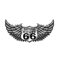 hot creative fashion retro route 66 bike auto moto decal waterproof cover scratch motorcycle sticker pvc 13cm x 6 3cm