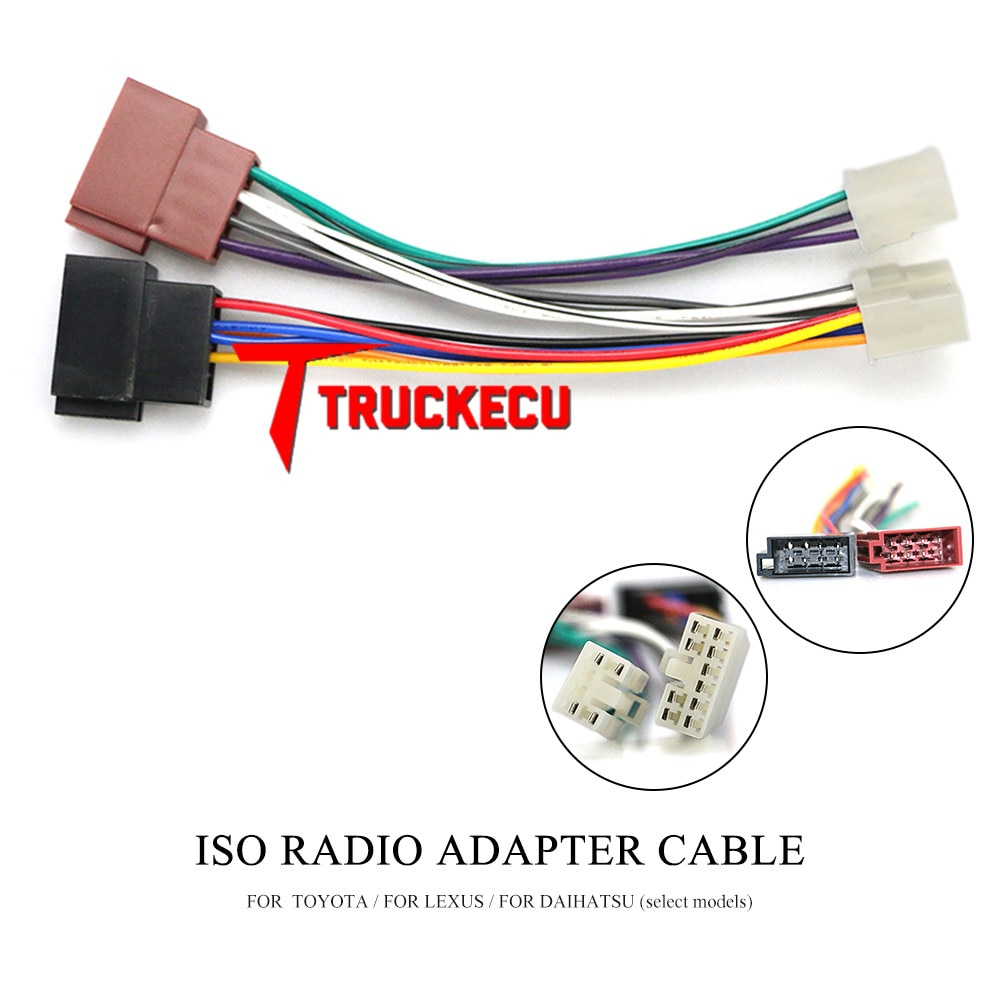 12-122 ISO Radio Adapter for TOYOTA foe LEXUS for DAIHATSU (select models) Wiring Harness Connector Lead Loom Cable Plug