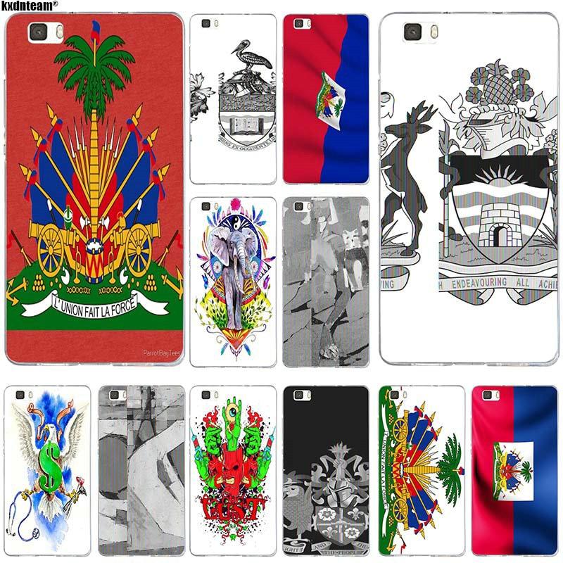 Para Huawei P8 P9 P10 P20 Lite Mate 10 Pro Y5 Y6 II Y7 Honor 6X 7X 9 Lite funda de teléfono móvil de silicona suave TPU Escudo de Armas de Haití