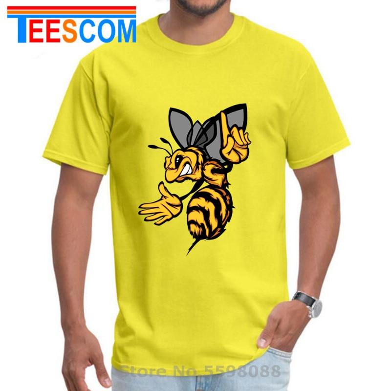 Camiseta de talla grande 5XL Angry Hornet para hombre, camiseta de abeja amarilla loca, divertida camiseta hipster con dibujos animados de WASPS, camisetas, ropa de Hip hop