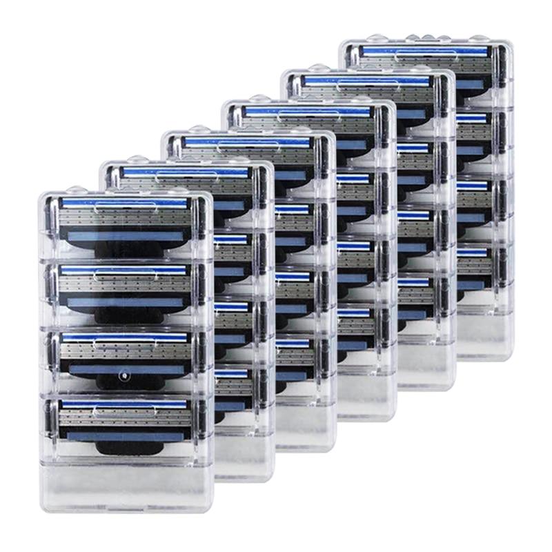 ¡Turbo! 24 unids/lote de afeitar de alta calidad Compatible para Gillettee Mache...