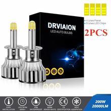 2PCS/Set 8-sides 200W 20000LM 360 Car LED Headlight H1 H7 H8/9/11 Auto Lamp 6500K Headlamp Automobil