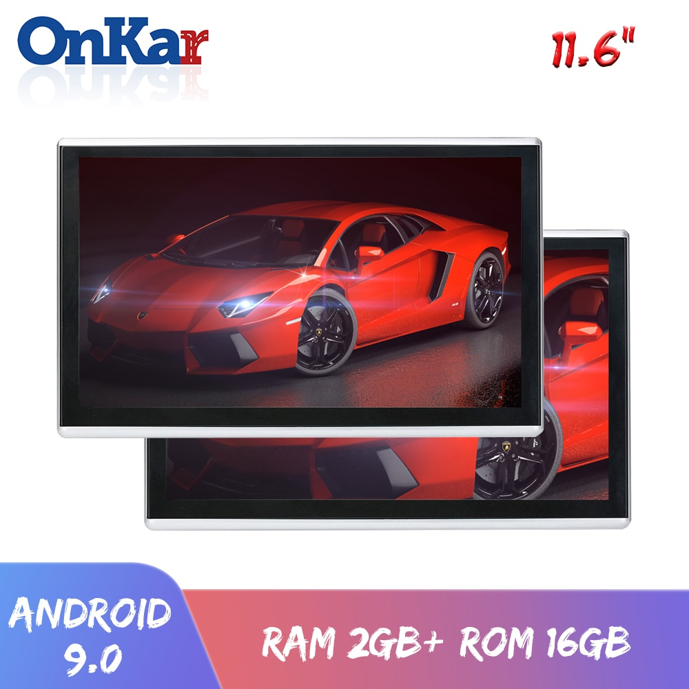 ONKAR Android 9.0 headrest monitor with 11.6 inch IPS touch screen 1920*1080 1080P support mirror li